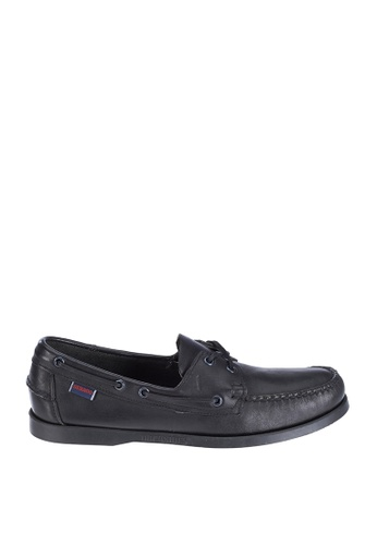 Sebago black Mens Docksides Boat Shoes SE328SH89NRAPH_1