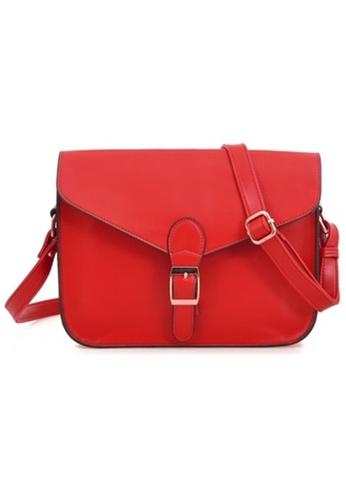 Jackbox Korean Casual PU Leather Shoulder Sling Bag 311 (Red) JA762AC85MSKMY_1