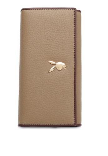 PLAYBOY BUNNY brown RFID Tri-fold Purse FEB2FACDE5206EGS_1