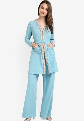 Najjah blue Sabrina Suit NA225AA64NJRMY_1