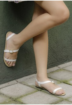 Lavish Sandals White