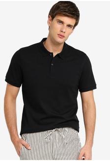 sports shoes 11792 ea76f Buy Selected Homme Contrast Short Sleeve Polo Shirt | ZALORA HK