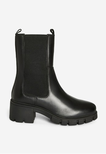 Vero Moda black Rikko Leather Boots 2FE77SH161694AGS_1