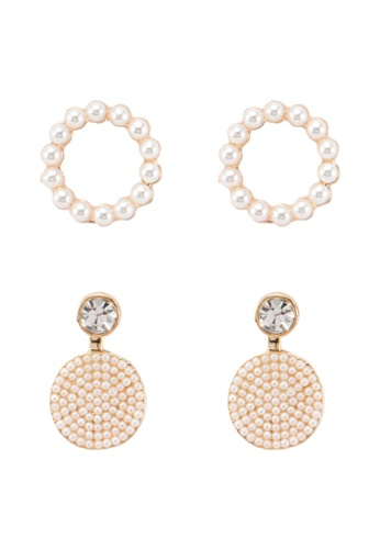 Red's Revenge white 2-in-1 Champagne Wishes & Caviar Pearls Dangle & Stud Earrings Set 532AFAC1E26CE4GS_1