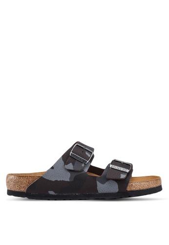 Birkenstock brown Arizona Desert Soil Camo Sandals 1F038SHD6E2114GS_1