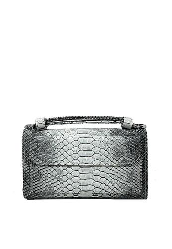 Twenty Eight Shoes grey VANSA Serpentine Pattern Embossed Cow Leather Bi-Fold Wallet VBW-Ps6021 D666EAC46B9956GS_1