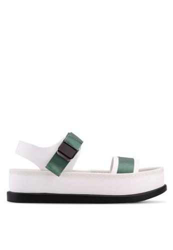 Something Borrowed white Velcro Strap Sandals DF98FSHF46B3A3GS_1