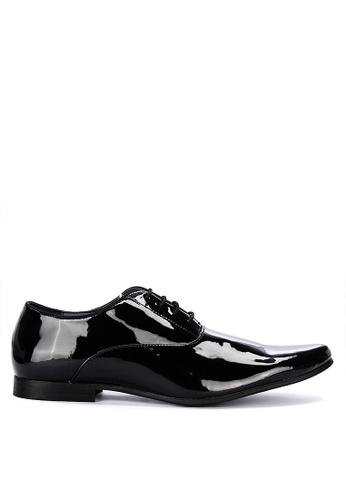 Burton Menswear London black Regal Patent Derby Shoes D2DD4SHB6D3C15GS_1