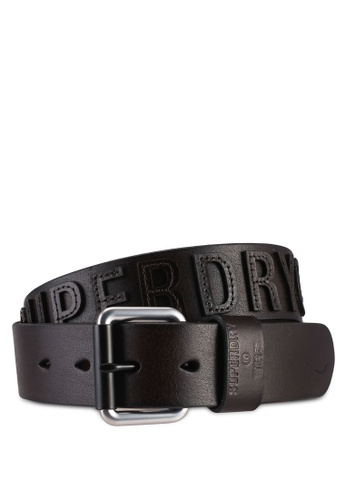 SUPERDRY brown Vermont Leather Belt 57F2CACD1D5843GS_1