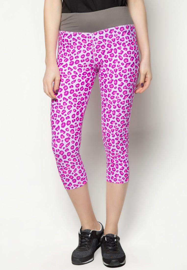 Print Legging Capri Pants