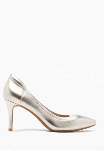 PAZZION gold Metallic Leather Pointy Heel 54328SH22F0EDFGS_1