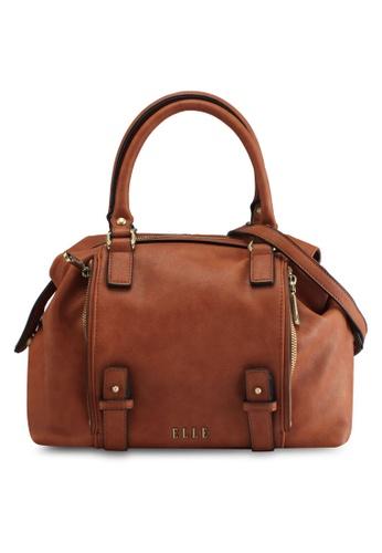 ELLE brown Bohym Top-Handle Bag 0DAF8AC1F5CB64GS_1