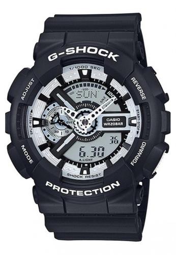 070d91cc09d80 Casio black CASIO G-SHOCK WATCH GA-110BW-1ADR 7EF4BAC093AE5EGS 1
