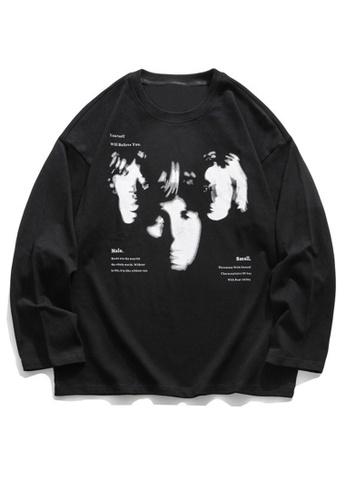 Twenty Eight Shoes Oversize Portrait Printed Long T-shirt HH0707 23292AAA0B0325GS_1