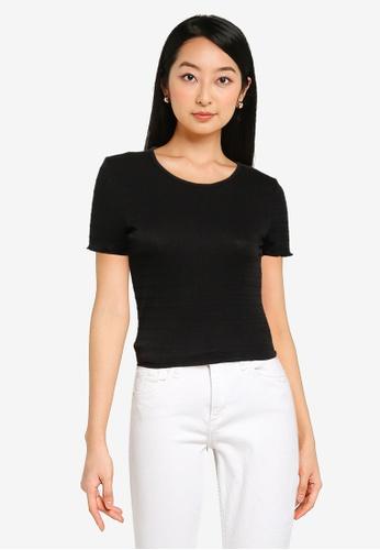 KOTON black Woman T-Shirt C8F31AA1B0A503GS_1