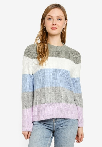 ONLY purple Jade Stripe Pullover A6A91AA7C559CEGS_1
