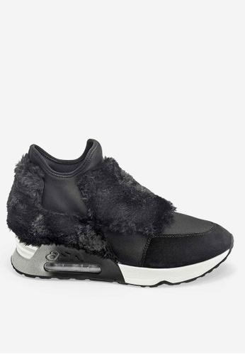 ASH Lazer Fur - Black Fur High-Top Sneakers 97343SH2DC79F6GS_1