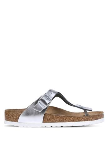 Birkenstock silver Gizeh Metallics Sandals BI090SH0RCOGMY_1
