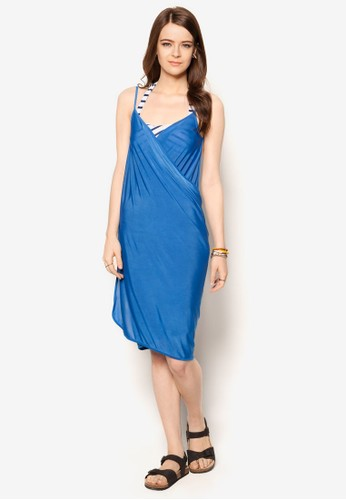 Mira 裹飾大挖背沙灘連身裙, 服飾, esprit hk store服飾