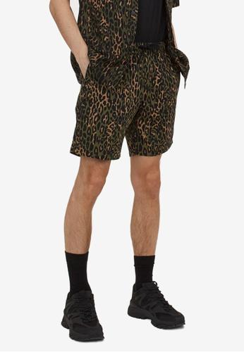 H&M black Patterned Cotton Shorts 815F4AAFA067FDGS_1