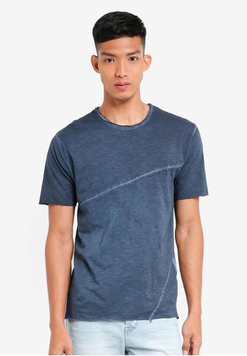 Only & Sons blue Stewie Slub Tee 62AF1AAA7D31A8GS_1