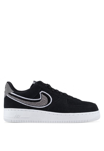 Nike black Air Force 1 '07 Lv8 Shoes B9B7BSH43A5E45GS_1
