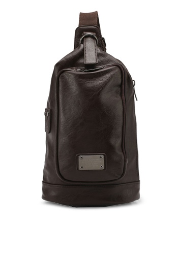 High Cultured brown PU Leather Shoulder Bag HI002AC0SPDEMY_1