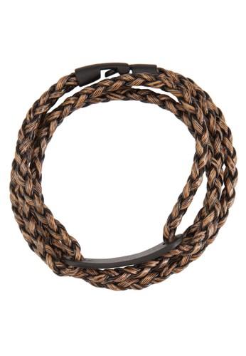 層次纏繞編織esprit高雄門市仿皮手環, 飾品配件, 手環