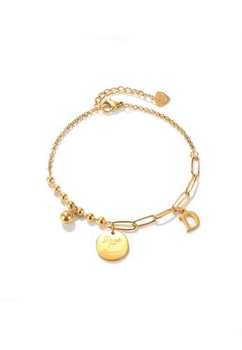 CELOVIS gold CELOVIS - Reverie Disc Pendant Chain-Link Bracelet in Gold 896C5ACF2D19D5GS_1