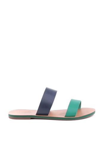 Anacapri 多色 條紋平底涼鞋 43978SH67AD78FGS_1