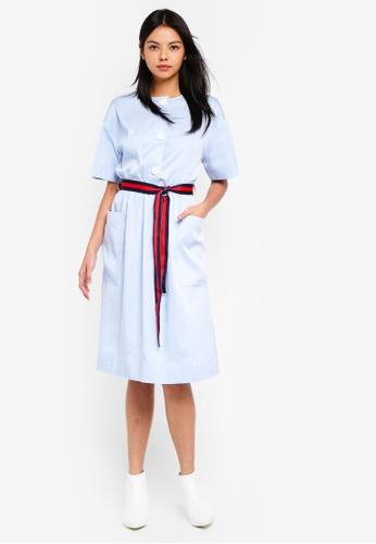 ESPRIT blue Long Woven Dress 59996AA99E9E93GS_1