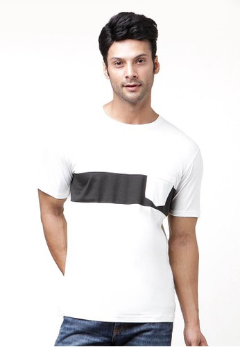 Sequel white Line Print with Pocket - O'White SE531AA01ALMID_1