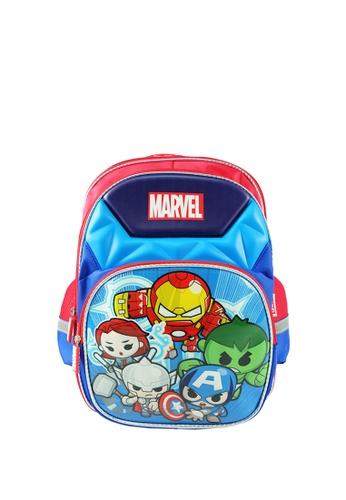 MARVEL blue Marvel Kawaii VKS1923 16 inch Avengers School Bag 8E6DCKC80C8A08GS_1