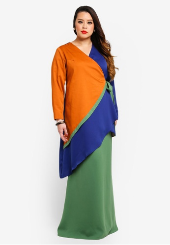 Oprah Wrapped Top With Long Skirt from Love By Syomir in Multi