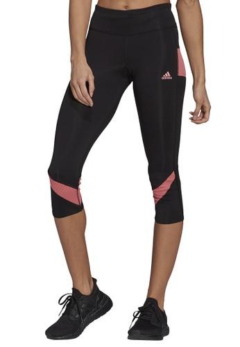 ADIDAS black adidas adidas own the run 3/4 tight women FC724AACA4316FGS_1