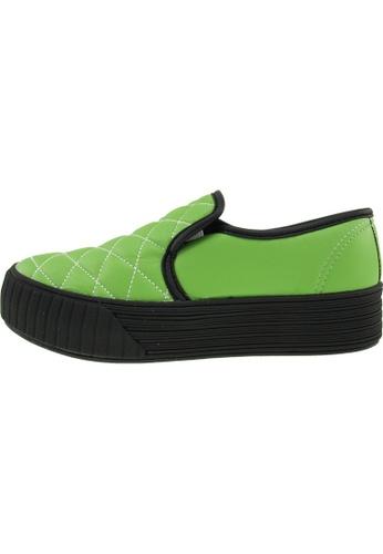 Maxstar 綠色 新款韩国鞋C30-Stitch-TC時尚皮革布混合女綠色 US Women Size MA345SH72HBZTW_1