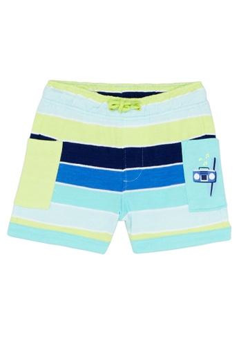 Du Pareil Au Même (DPAM) white Surf Stripe Shorts 2C394KAFBE4C83GS_1