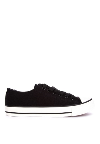 BENCH black Classic Lace Up Sneakers 26D83SHBA2BB4BGS_1
