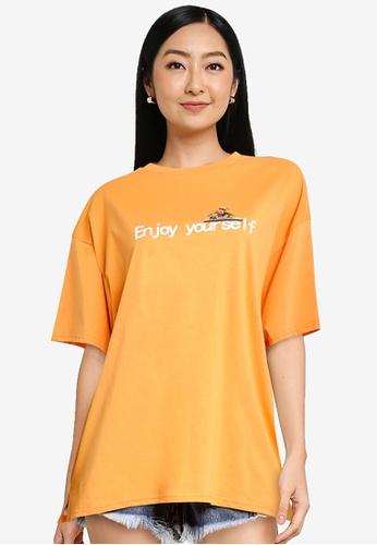 URBAN REVIVO orange Women's T-Shirt 881ACAA7030DEEGS_1