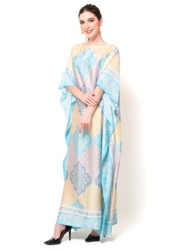 Kanzi by liza yahya multi Kanzi Exclusive Short Sleeve Ethnic Kaftan F92C2AAFDDD5FEGS_1