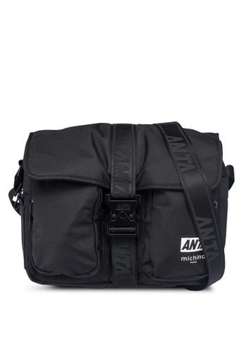 Anta black Anta Hook 2.0 Satchel Sling Bag 1524BAC2774718GS_1