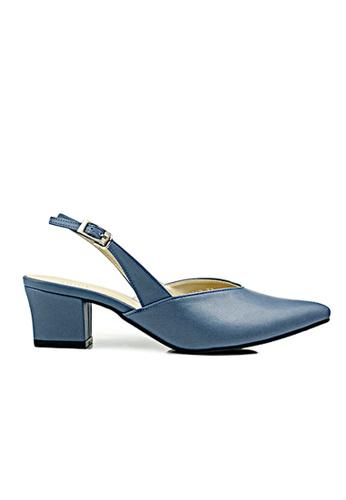 SHINE blue Slingback Basc High Heels SH554SH91WKYSG_1