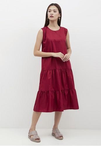 madeleine red MARSHA MAROON DRESS BE483AADABBE84GS_1