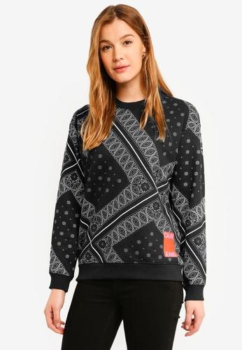 Calvin Klein black A-Bandana Os Crew Neck Sweatshirt - Calvin Klein Jeans 7531FAAC3F7C83GS_1