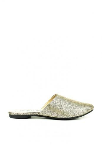 Mario D' boro Runway gold Steffi Flat Shoes 31BE9SH75E34C6GS_1