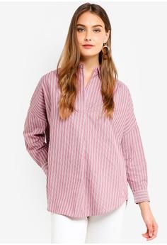 bb4df9082e0 ... RM 273.00 Sizes 6 14 · French Connection red Bega Stripe Dip Hem Shirt  D7731AA7CD23E3GS 1