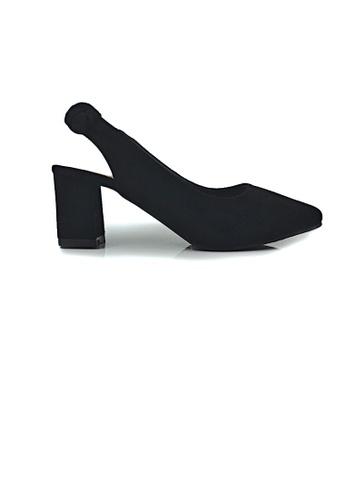 SHINE black Sling back Block Heels 1983FSHBE05BDCGS_1