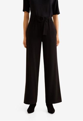 MANGO black Belt Palazzo Trousers D4DA6AA13573FEGS_1