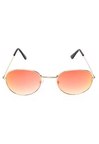 Hamlin gold Mackenzie Kacamata Aviator Polarized Lens Sunglasses UV Protection Frame Material Metal ORIGINAL - Gold Red 10896GLE8EF7A6GS_1