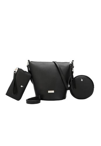 Swiss Polo 黑色 Ladies 3-in-1 Bucket Bag A3A00AC3101F2BGS_1
